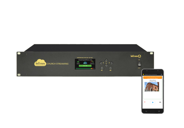 Streaming device that offers to faithful who are unable to attend church functions the opportunity to listen to all the parish liturgies either live or at a later time.