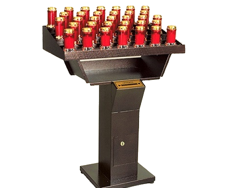 Automatic electronic votive church-candles holder