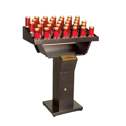 Automatic electronic votive church-candles holder for the church