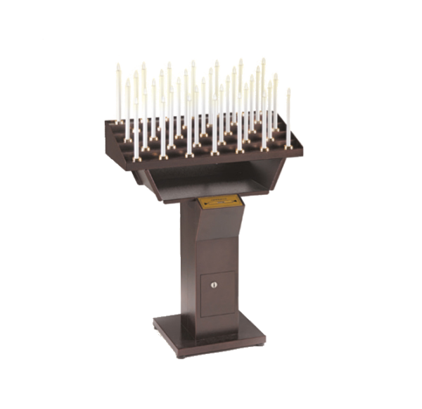 Automatic votive electric candles-holder for churches